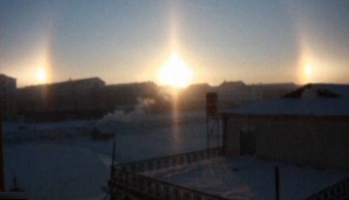 Sun dog or parhelion