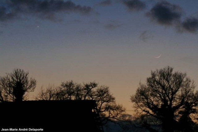 Moon and Venus, in Normandy