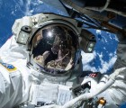 Astronaut Barry Wilmore selfie on a Spacewalk