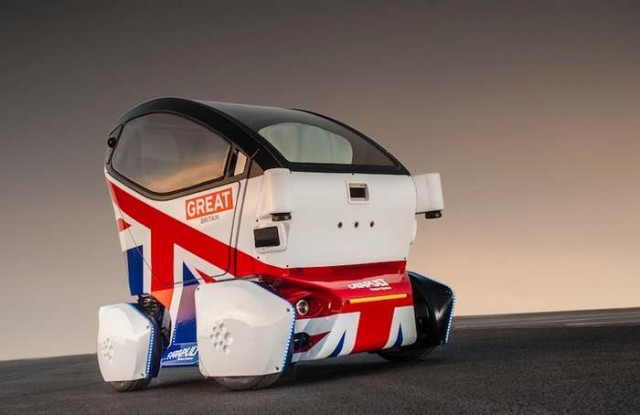 Britain's Lutz  Driverless car