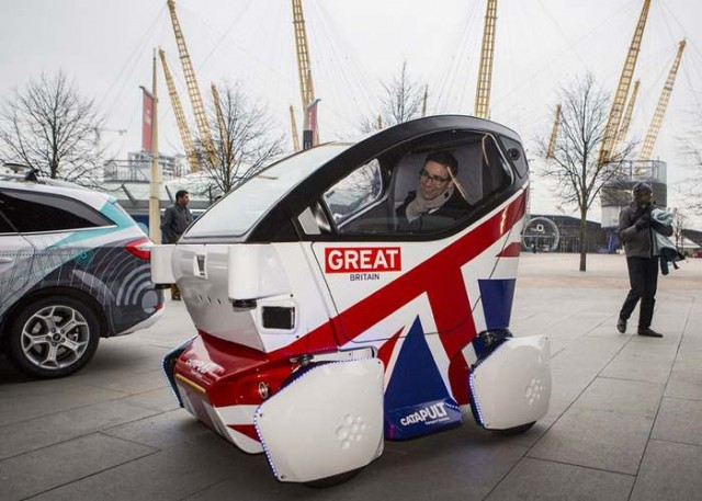 Britain's Lutz  Driverless car 3