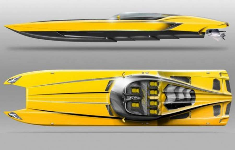 Catamaran Speedboat Inspired By The Owner S Lamborghini Wordlesstech