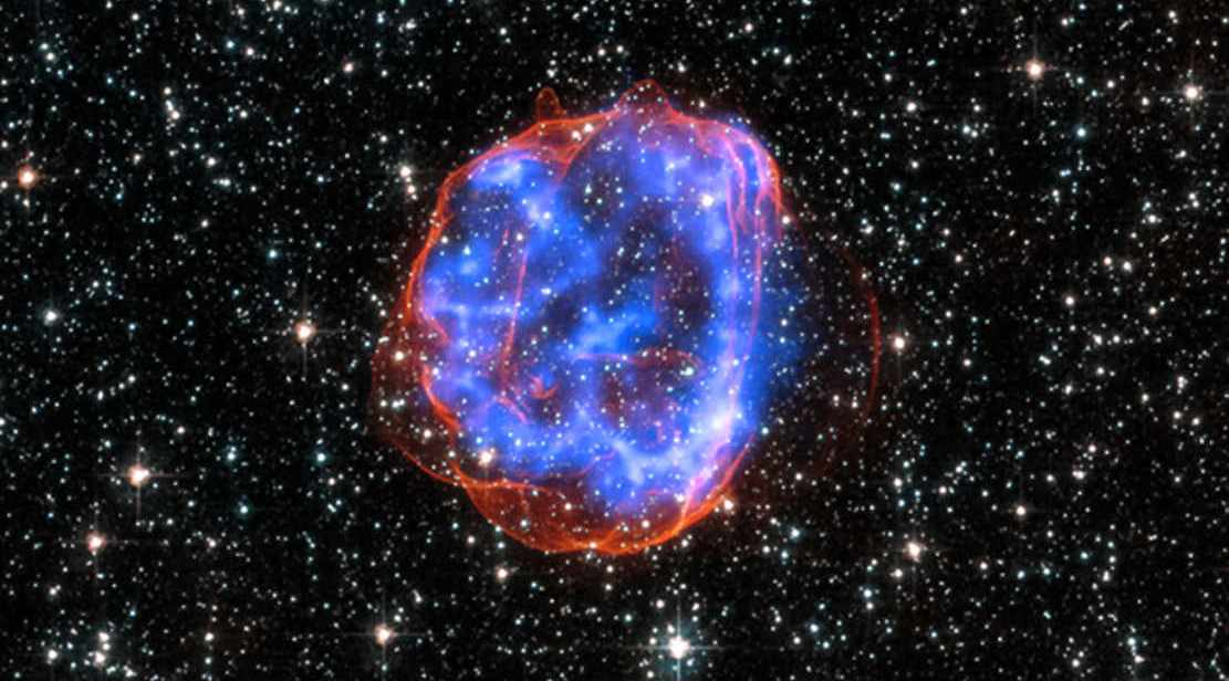 Shell of debris called SNR 0519-69.0 in the Large Magellanic Cloud