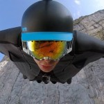 Flying with a wingsuit in slow motion