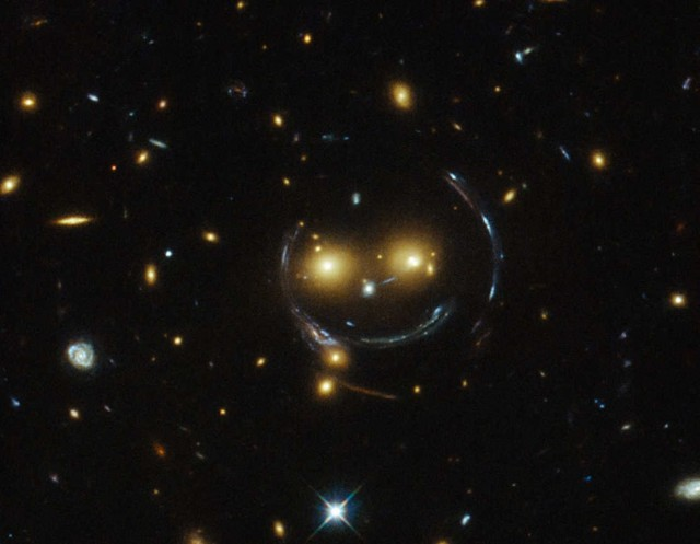 Giant smiley face by Hubble