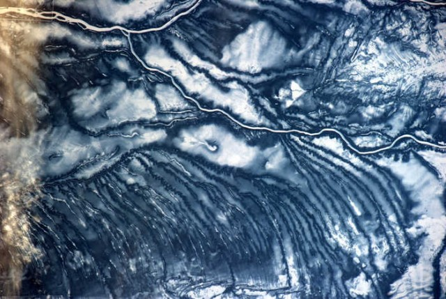Icy landscape in northern Canada