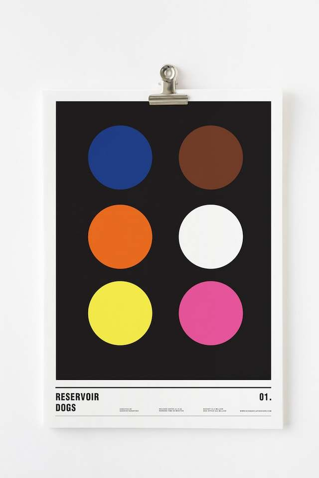 Minimalist posters made with circles