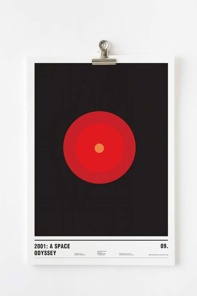 Minimalist posters made with circles (10)