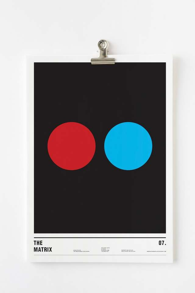 Minimalist posters made with circles (11)