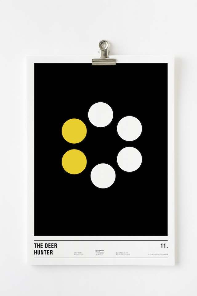Minimalist posters made with circles (7)