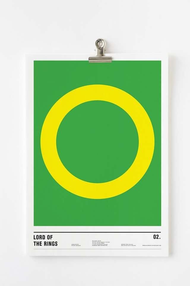 Minimalist posters made with circles (9)