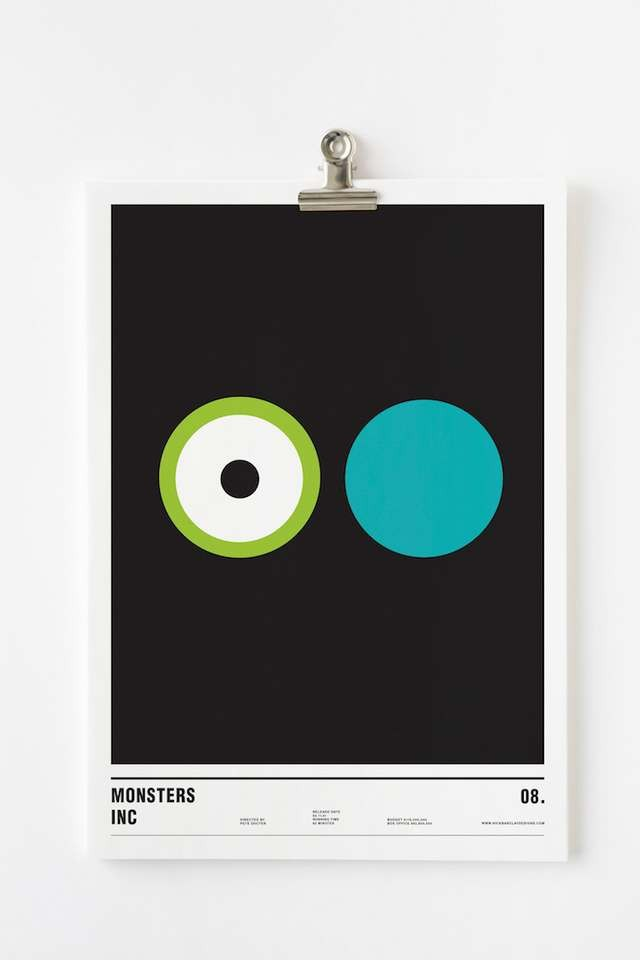 Minimalist posters made with circles (3)