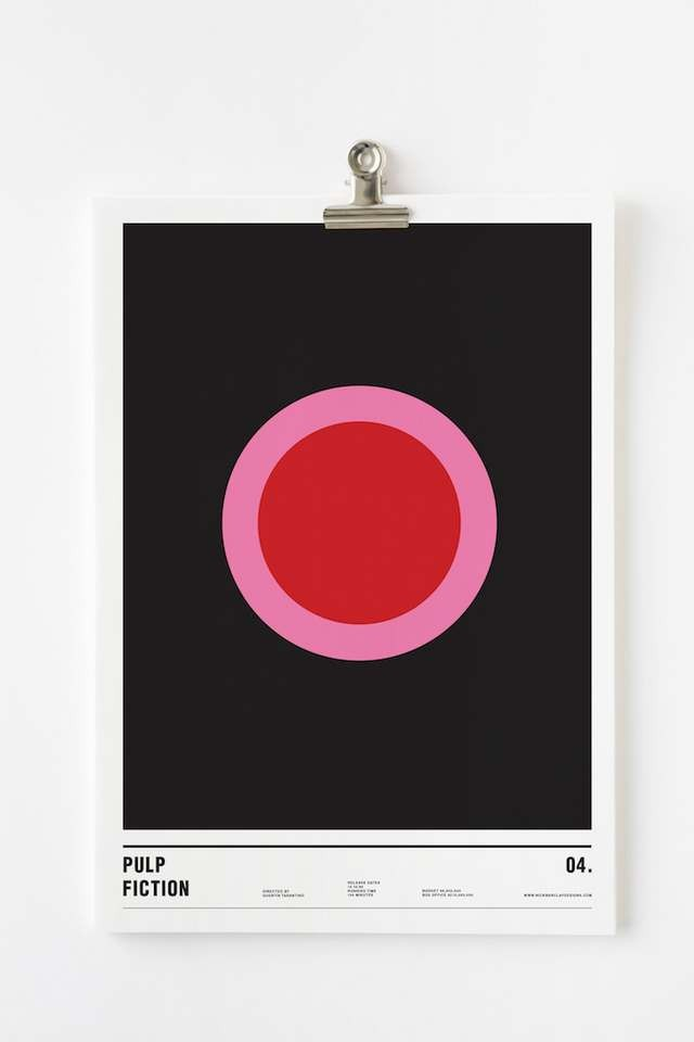 Minimalist posters made with circles (2)