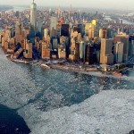 New York surrounded by ice