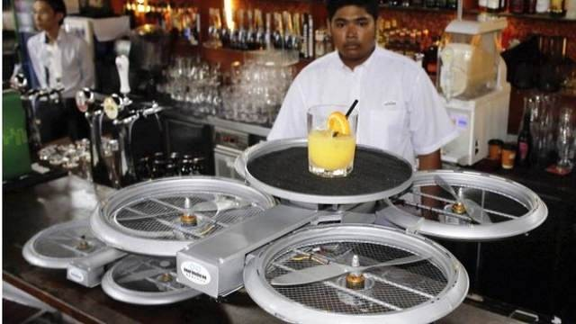 Drones for Serving