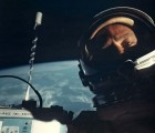 First selfie in space by astronaut Buzz Aldrin