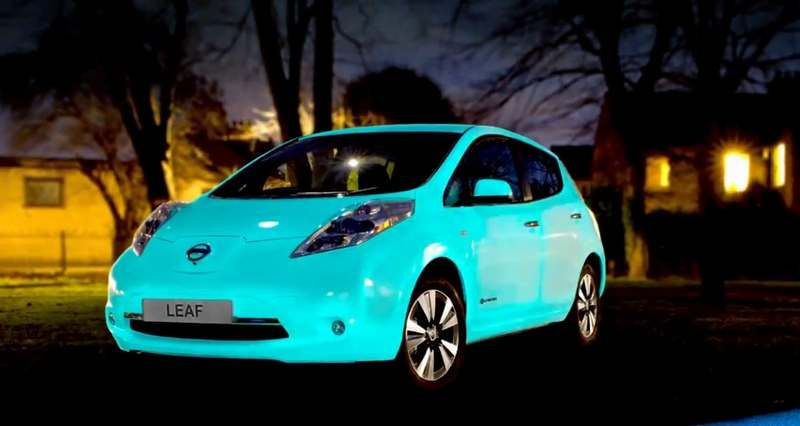 the glow in the dark nissan s car paint wordlesstech. Black Bedroom Furniture Sets. Home Design Ideas
