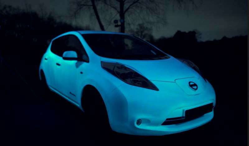 wordlesstech the glow in the dark nissan s car paint. Black Bedroom Furniture Sets. Home Design Ideas