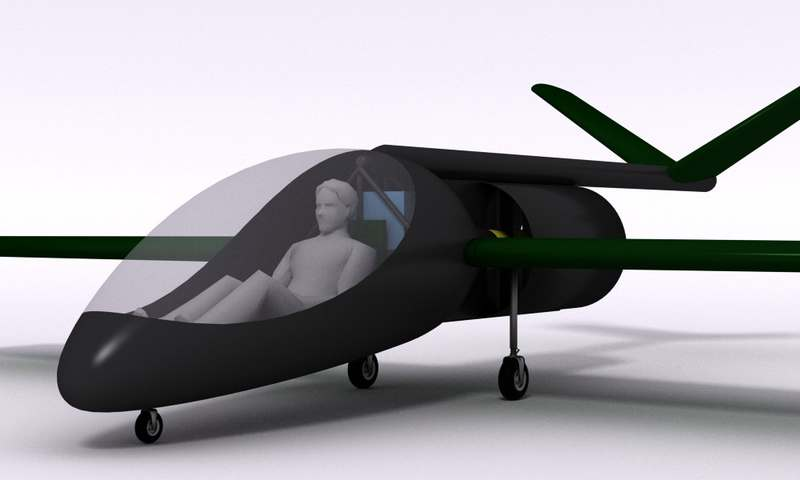 Trasgo powerful electric aircraft concept wordlesstech for Electric motor for aircraft