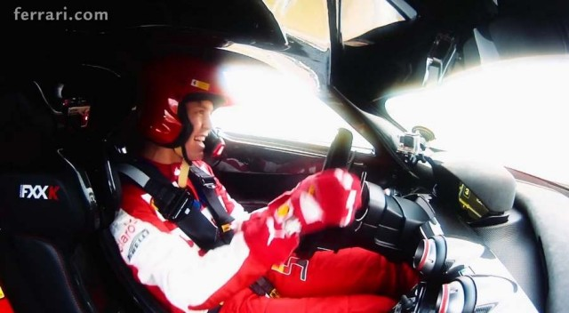 Vettel in the Ferrari FXX K
