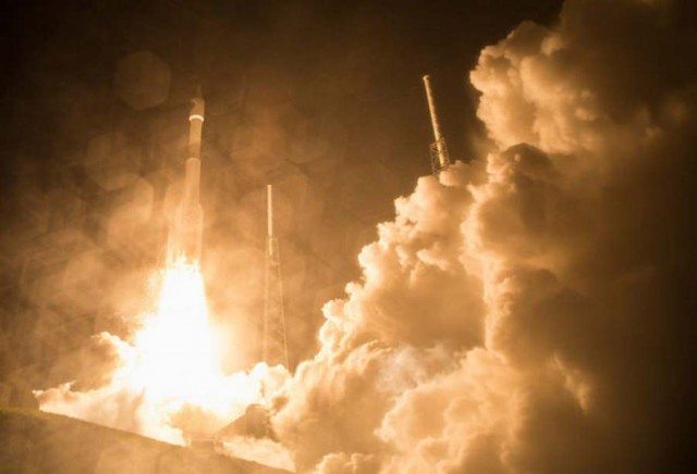 The Atlas V rocket lifts off from Space Launch Complex