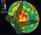 Seismic study, to 3-D map Earth's interior