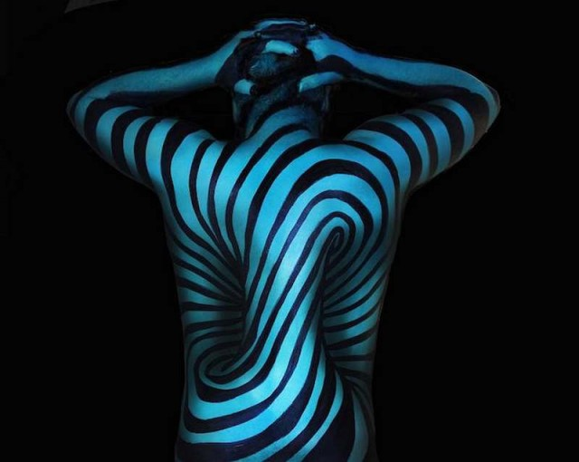 Body Painting Optical Illusions