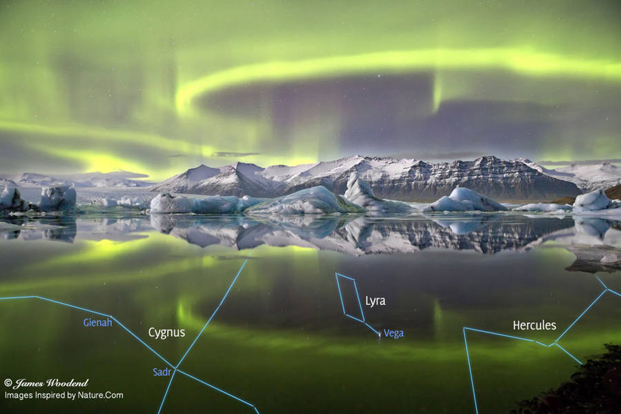 Aurora and Glacier