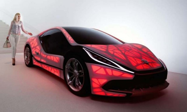 EDAG Light Cocoon 3D-printed car