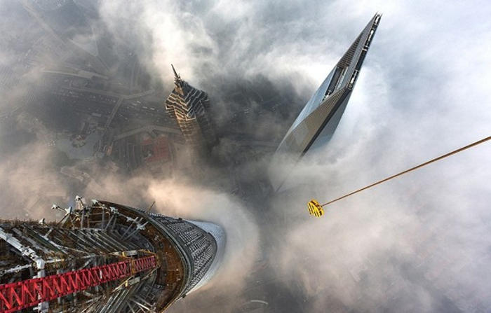 the Top of world's second-Tallest Building
