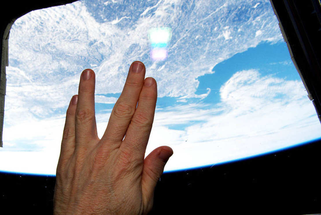 Vulcan hand salute from orbit