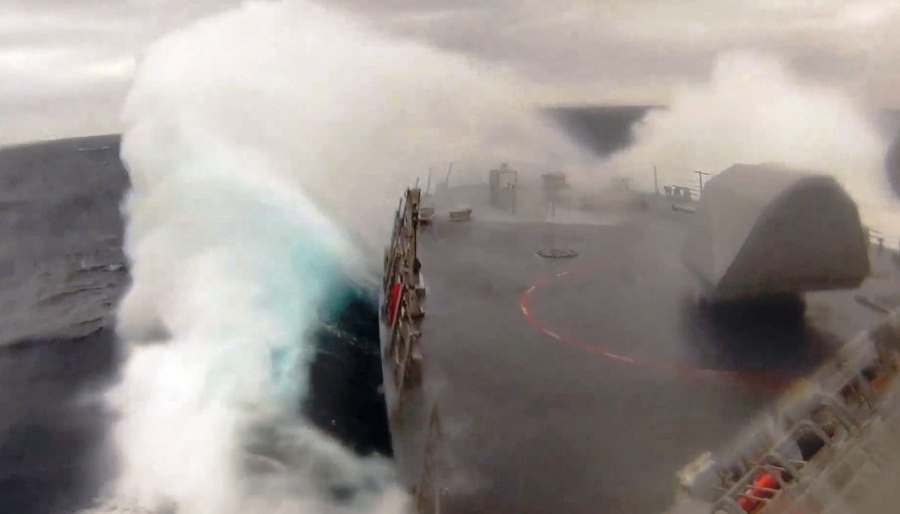 Littoral Combat Ship in Heavy Seas