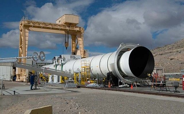 Fire up of Deep Space Rocket Booster (6)