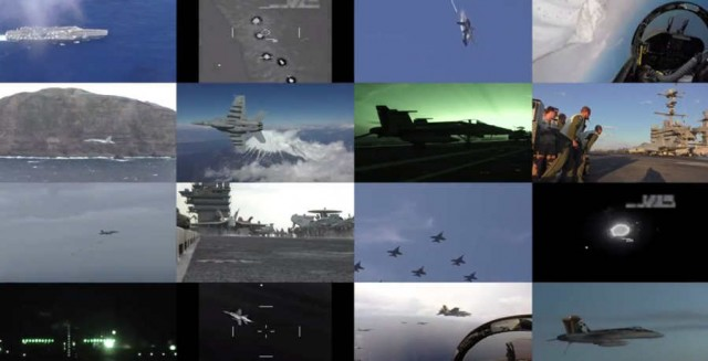F-18 Fighter footage