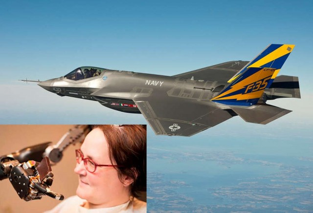 Paralyzed woman Fly Plane with her Mind