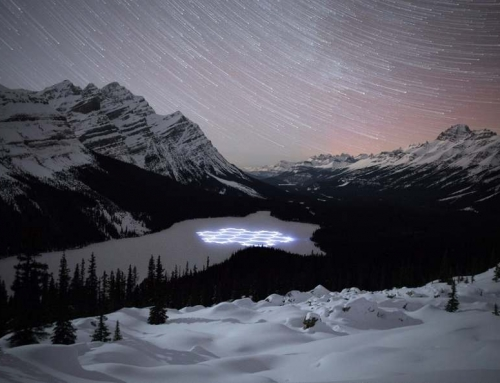 Snow Art in Banff National Park