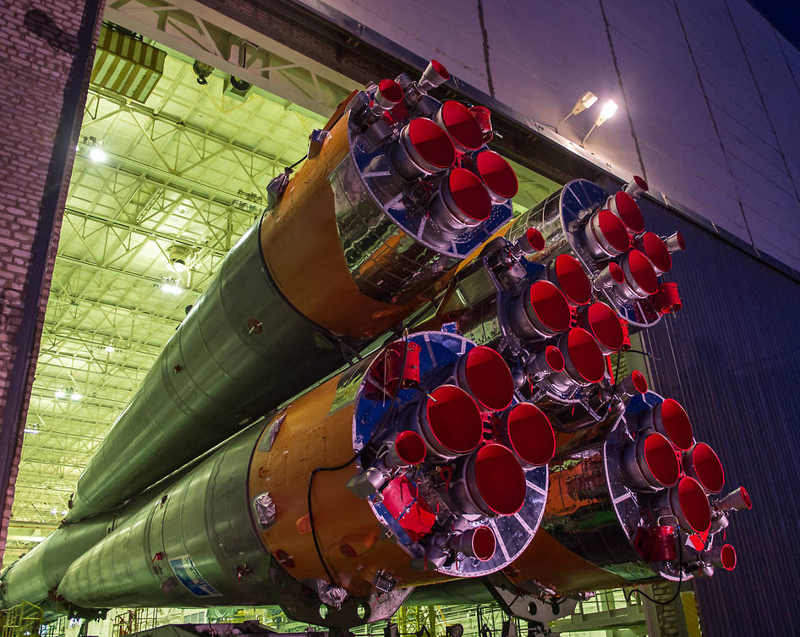 Soyuz Rolls Out for Launch