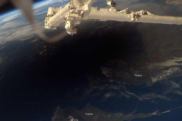 Total Solar Eclipse over Greece from space