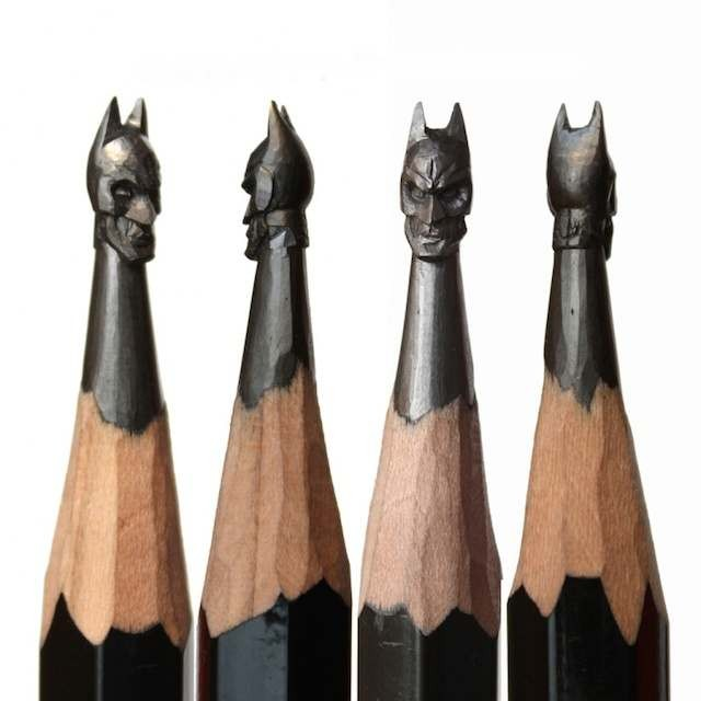 Tiny sculptures on the top of Graphite pencils (5)