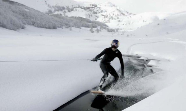 Winter wakeskate 2