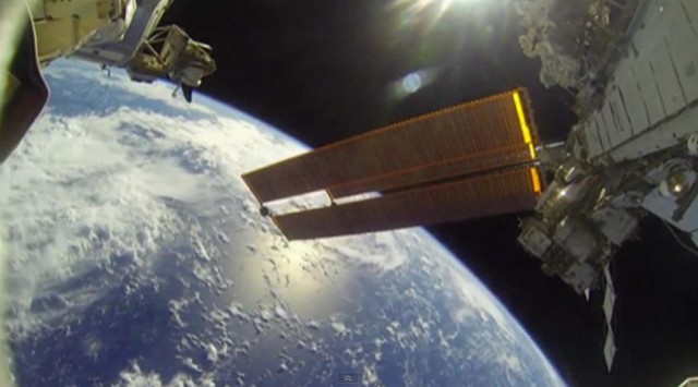 spacewalk GoPro footage