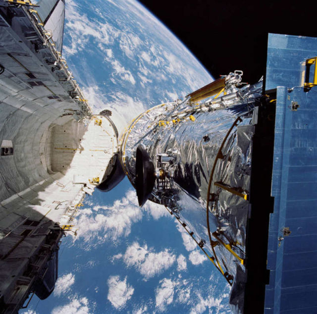 Hubble Space Telescope on April 25, 1990