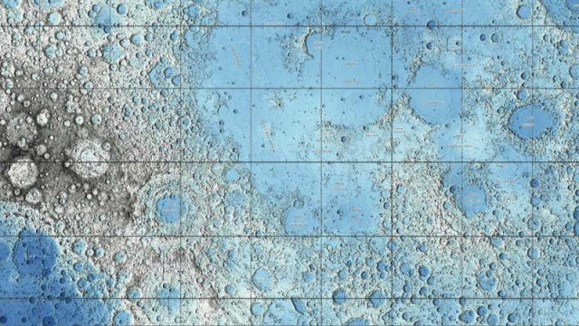 Lunar landscape compiled by US Geological Survey
