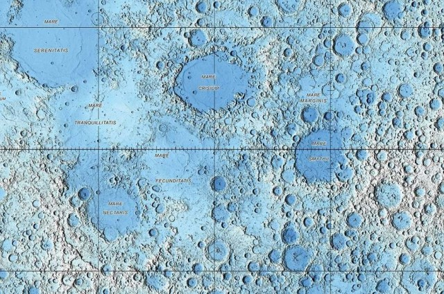 Lunar landscape compiled by US Geological Survey (2)