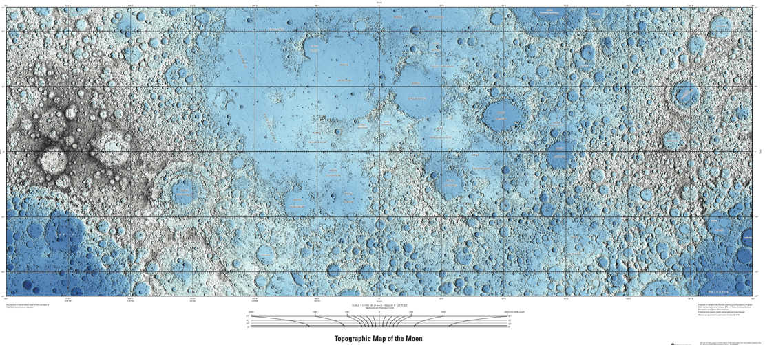 Lunar landscape compiled by US Geological Survey (1)