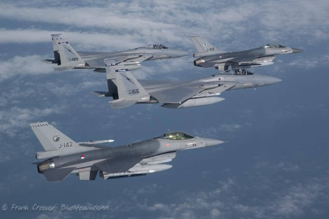 F-16 and F-15