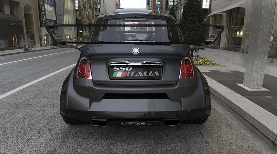 Fiat Powered By Ferrari V Engine on Fiat 500 Electric Car