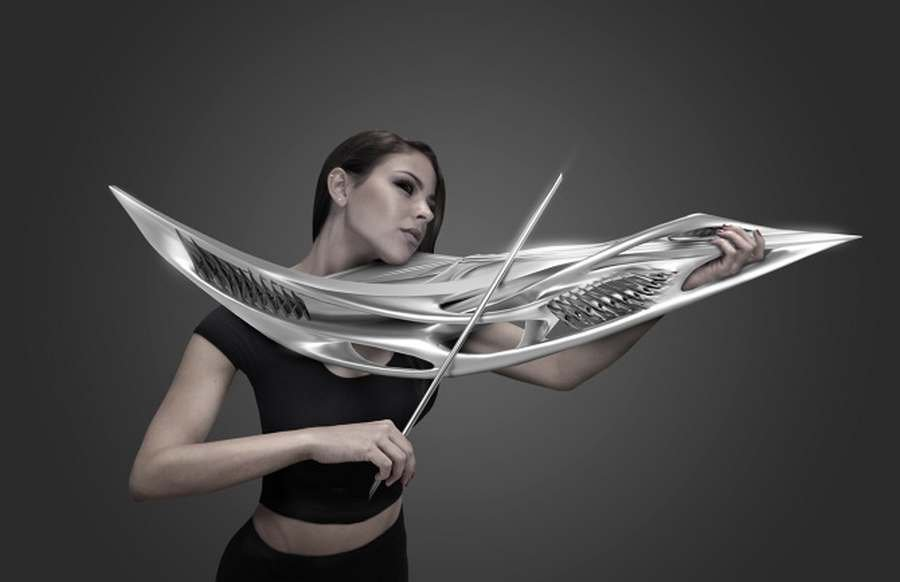 3D-printed 2-string Violin