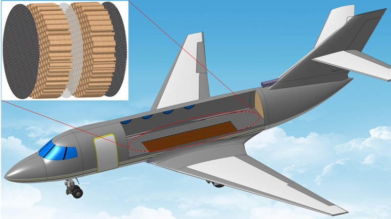 Lightweight Membrane will reduce in-flight Aircraft noise