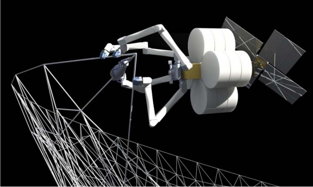 Giant Space Structures by Spiderlike Robots 2